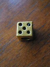 Tibetan Silver Dice Cube European Charm Bead x 2