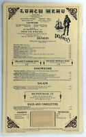 1980's Vintage Laminated Lunch Menu DELANEY'S Restaurant Orange County Chain CA