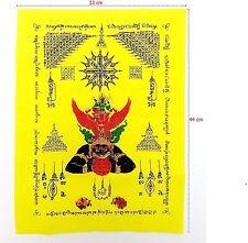Narai Garuda Rahu Wishing Cloth Thai Amulet Buddha Yant Talisman Luck Rich #15