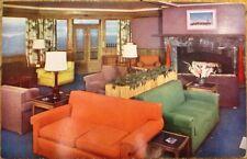 Manchester, VT 1950s Chrome Postcard: Mt. Equinox Sky Line Inn Lounge - Vermont