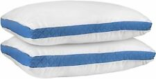 Gusseted Quilted Pillow Standard/Queen 18 x 26 Inches Blue Set of 2 - Hypo Al...