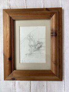 Winnie The Pooh Art Print E H Shepherd Pencil Sketch Small