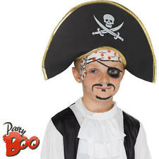 Pirate Hat Kids Fancy Dress Childrens Boys Book Character Costume Accessory New