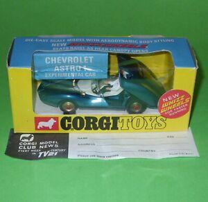 Corgi / 347 Chevrolet Astro 1 Experimental Car / Boxed