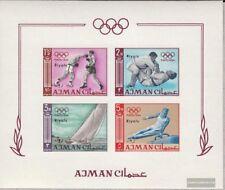 Ajman Block A10B (kompl.Ausg.) postfrisch 1967 Olymp. Sommerspiele ´64, Tokio
