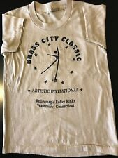 VTG 80s Youth Kids Waterbury Connecticut Artistic Roller Skating T-Shirt Derby