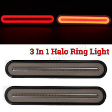2X 28LED Flowing Reverse Stop Brake Turn Signal Rear Tail Light Truck Trailer RV