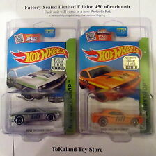 Bx6 Hot Wheels 2015 233/250 Zamac & Orange Dodge Challenger w/ Protecto-Pak