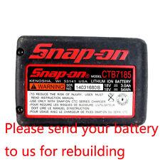 Pack Rebuild Service For SNAP ON 18V Battery 3.0Ah Li-ion CTB8185G CT8850 CT8810