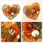 Fall Door Heart Pumpkin Wreath Autumn Color Maple Leaf Halloween Decor Garland