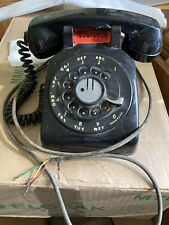 Vtg Rotary Desk Phone Black Western Electric C/D 500 Untested 12-58 G-3 Hand set