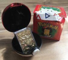 Pokemon Limited Edition 23K Gold-Plated Trading Card TOGEPI Burger King Toy Kids