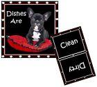 DOG DISHWASHER MAGNET - Boston Terrier #2 - Clean/Dirty *Ship FREE