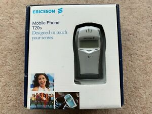 Vintage Ericsson T20s Mobile Phone & CHA-10 Chatboard in Original Box | Unlocked