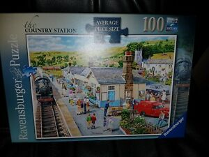 RAVENSBURGER THE COUNTRY STATION 100 LARGE PIECES JIGSAW PUZZLE COMPLETED ONCE