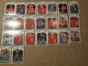 1988 Fleer  Montreal Expos Team Set ( 23 Cards ) Galarraga , Raines , Walker