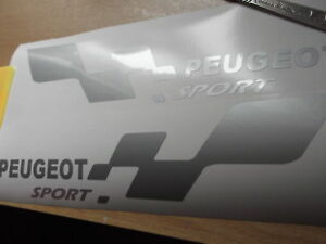 PEUGEOT sport  SMALL car vinyl sticker decal. x2 7 YEAR VINYL