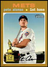 Pete Alonso 2020 Topps Heritage 5x7 Gold #457 /10 Mets