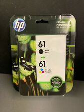 HP 61 CR259FN Black & Tri-color Ink Cartridges Combo NEW SEALED