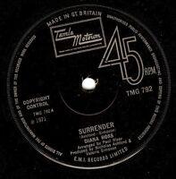 DIANA ROSS Surrender Vinyl Record 7 Inch Tamla Motown TMG 792 1971