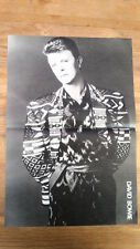 DAVID BOWIE / PHIL COLLINS 2-sided Centerfold magazine POSTER  17x11 inches