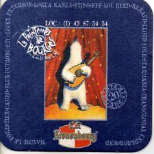 """Ancien sous-bock bière """"Printemps de Bourges 1996"""" avec Renaud"""