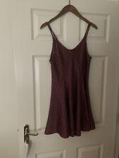 Ladies Night Dress / Night Wear - Polka Dot Silky Feel Dress Approx Size 8