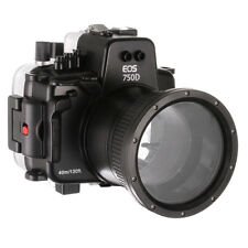 130ft/40M Underwater Housing Case For Canon EOS 750D Rebel T6i Kiss X8i 18-135mm