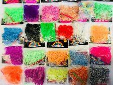 Loom Bänder je ca.200 st. proTüte bunte Gummibänder in vielen versch.Farben Neu