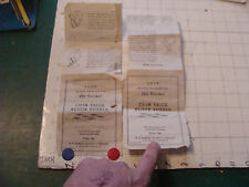 vintage paper: circa 1950's COIN TRICK BLOCK PUZZLE torn in half INSTRUCTIONS