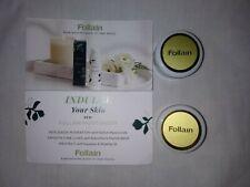 Lot Of Two Follain Moisturizer: Replenish + Protect Miniature Jar Samples