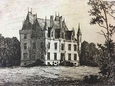 Château de Chatelain  Mayenne Château-Gontier 1872 A. Tancrède Pays de loire