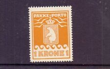 GREENLAND 1937 1k OCHRE-YELLOW PARCEL POST P10¾ SGP11B LMM CAT £41