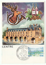 CARTE MAXIMUM FDC 1976 TIMBRE N° 1863 REGION CENTRE CERF VIN