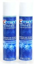 2 Crest 3D White Toothpaste Removes Up To 80% Stains Arctic Fresh Fluoride 4.2oz