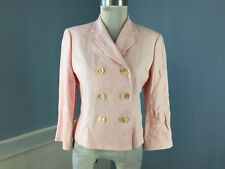 Ralph Lauren Light Pink Blazer Jacket S 6 100% linen Double Breasted Excellent