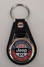 Jeep KEYCHAIN FOB RED WHITE BLUE