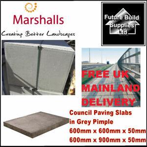 Natural Grey Concrete Flags Council Paving Slabs 600 x 600 x 50 & 600 x 900 x 50