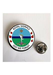 Royal Signals Lest We Forget Army lapel pin badge / Key Ring / Fridge Magnet