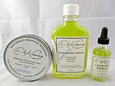 Christophe Pourny Leather FURNITURE Care Products TONIC / SERUM / WAX USA Made