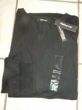 NWT $50 Mens  Claiborne Cotton/Cashmere Blend V-Neck Sweater Black Sz XXL