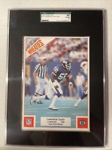LAWRENCE TAYLOR 1987 Wheaties paper poster GIANTS 5 X 7 SGC 6 EX-MT HOF RARE
