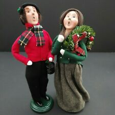 2003 Retired Byers' Choice Signed The Carolers Christmas Couple 7/100 and 86/100