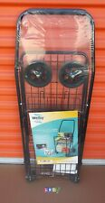 WELBY Utility Shopping Cart Foldable Basket Outdoor Storage Grocery Laundry 80LB