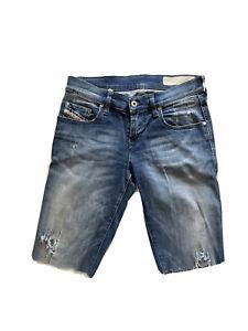 Women's W 25 L30 DIESEL skinny denim shorts Made In Italy