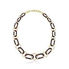 "New $275 MICHAEL KORS Tortoise Chain Link Statement 32"" Necklace MKJ5568"