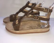 New VIVIENNE WESTWOOD Cadwin Women's 39 Fisherman Sandal Leather Brown 8.5 9