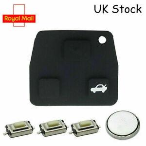 2 3 Button Toyota Rav4 Yaris Corolla Avensis Remote Key Fob Case Rubber Pad A12