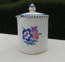 Vintage Poole Pottery Jam/Honey Pot with lid, Traditional KK Pattern Shape 286