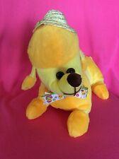 K&K Yellow Poodle W/Straw Hat & Bow Plush Surfed Animal